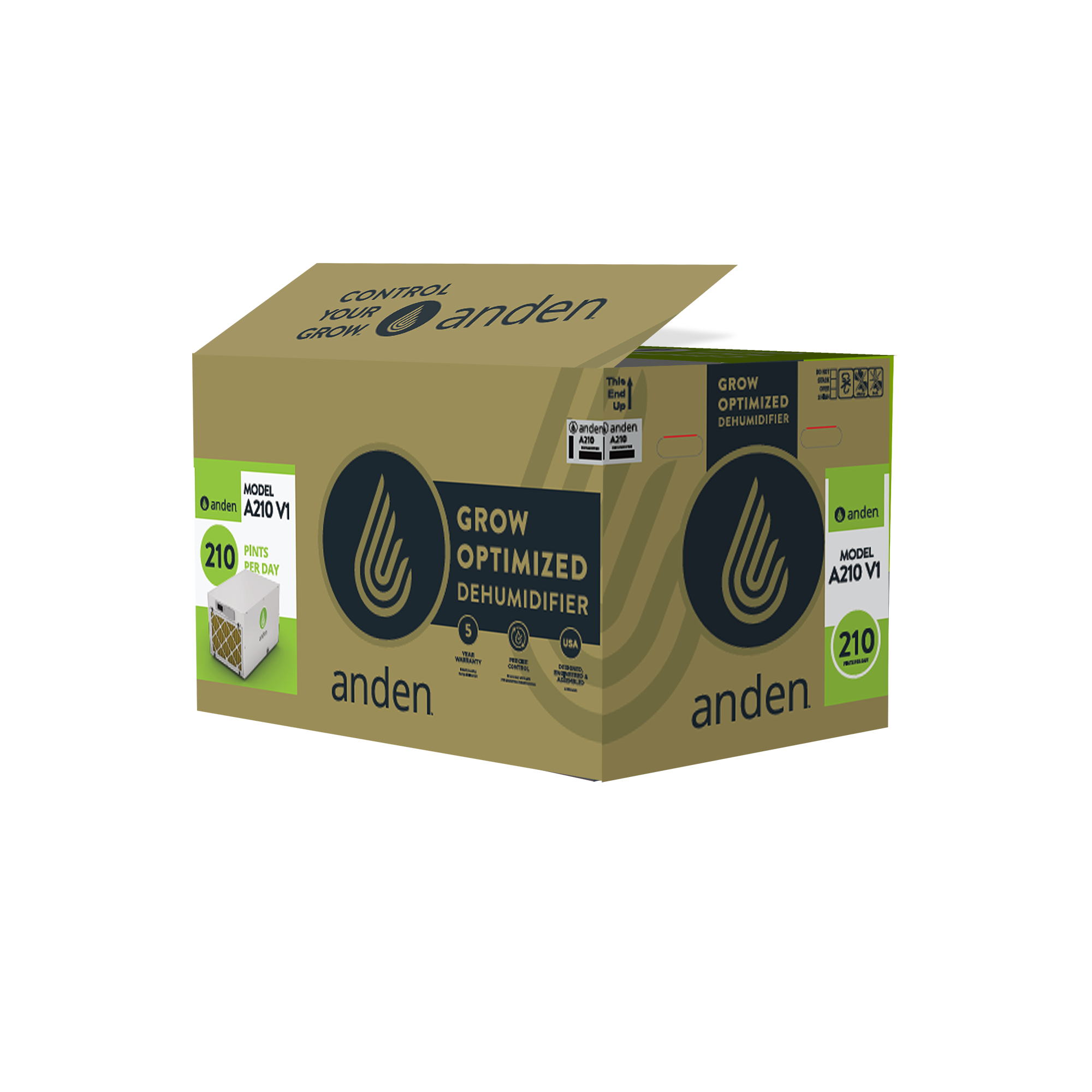 Anden-Model-A210-Grow Room-Dehumidifier