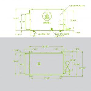 Anden-Model-210-Dehumidifier-Spec Sheets-Grow Room