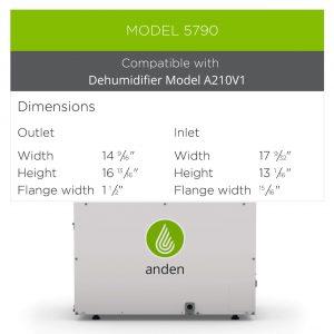 Anden-Model-5790-Dehumidifier-Grow-Room-Duct-Kit