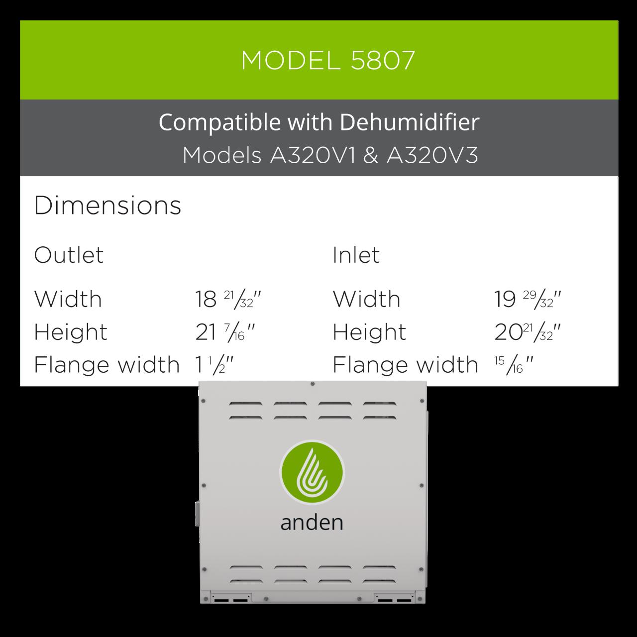 Anden-Model-5807-Duct-Kit-Dehumidifier-Grow-Room