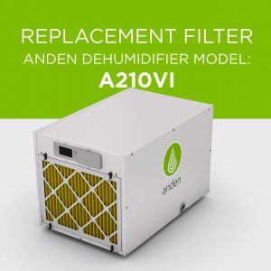 Anden-Model-A210V1-Replacement-Air Filter-Dehumidifier