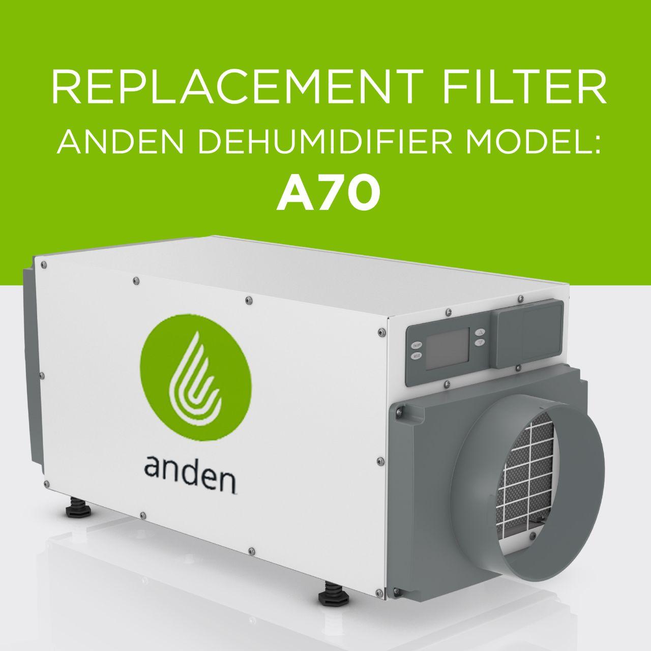 Anden-Model-A70-Dehumidifier-Replacement-Air Filter